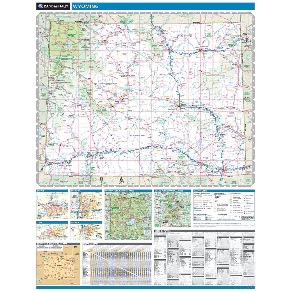 Rand McNally Wyoming State Wall Map