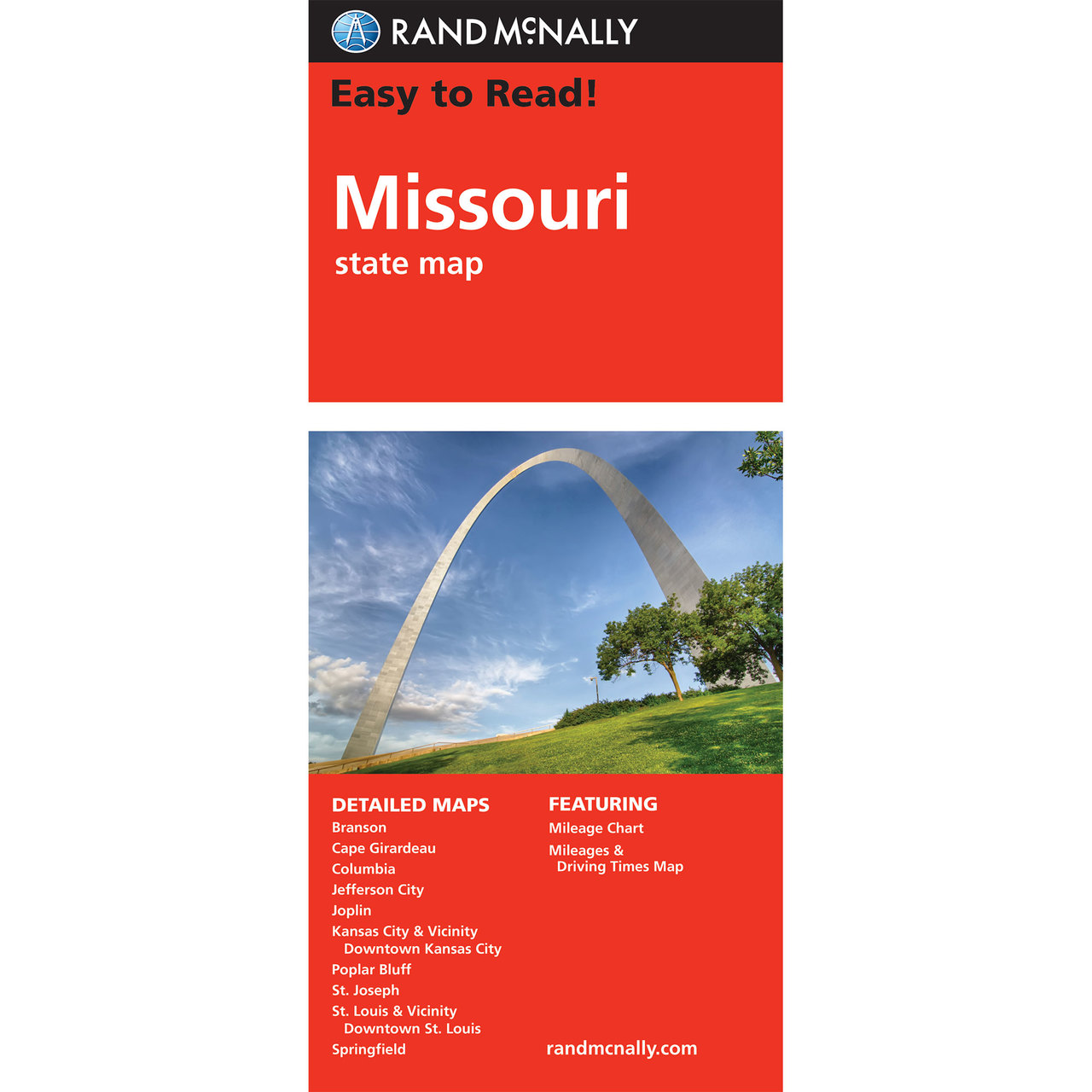 Rand McNally Easy To Read State Folded Map Missouri