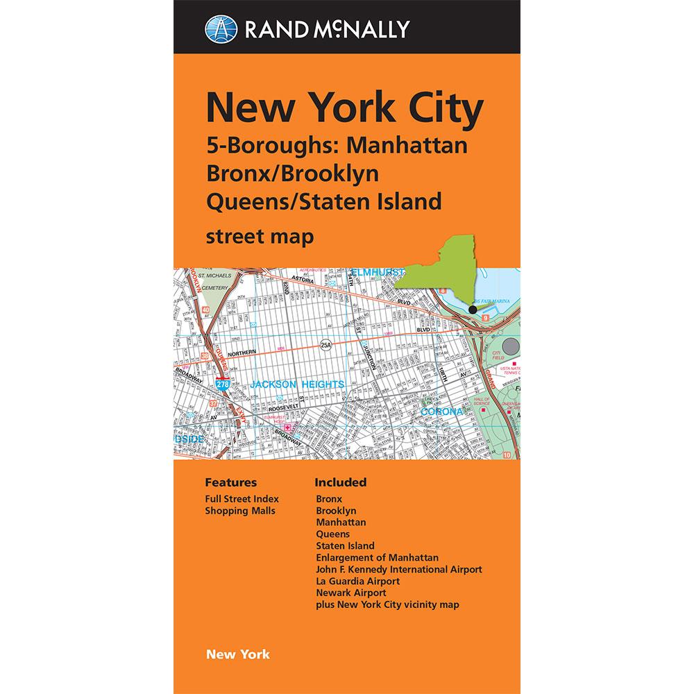 folded maps new york city 5 boroughs manhattanbonxbrooklynqueensstaten island