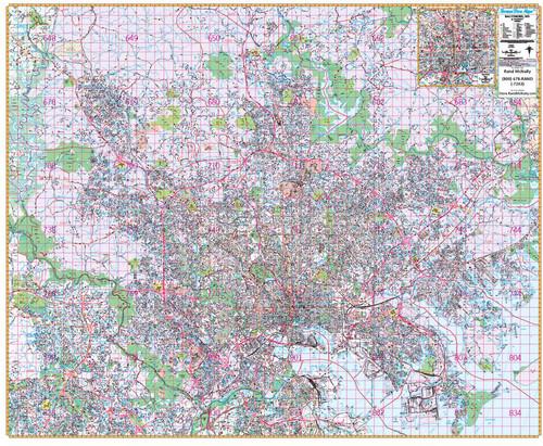 Rand Mcnally Gps >> Thomas Bros. Baltimore Wall Map