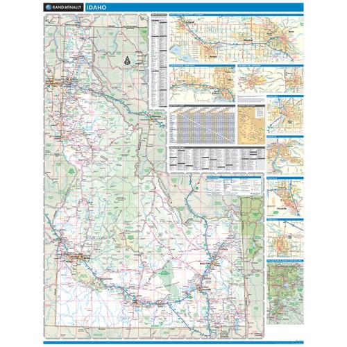 Rand Mcnally Gps >> Rand McNally Idaho State Wall Map