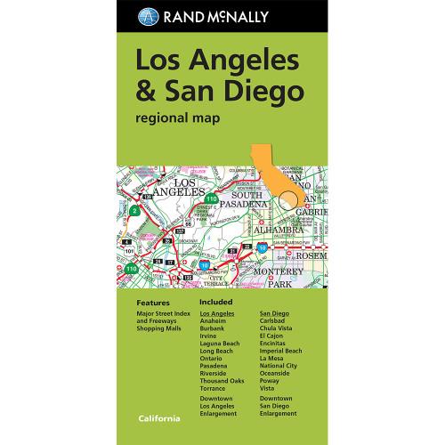 Los Angeles San Diego Regional Map