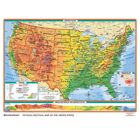 Physical political usworld desk map rand mcnally store physical political usworld desk map gumiabroncs Image collections