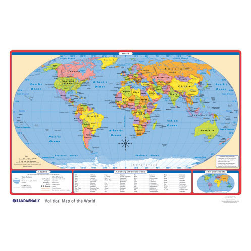 Political usworld desk map rand mcnally store political usworld desk map gumiabroncs Images