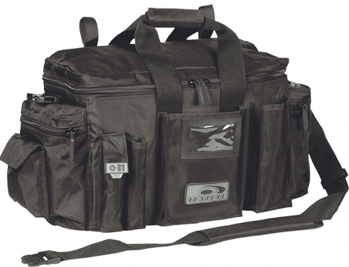 D 1 Patrol Bag Black by Hatch, Closed view.  In Stock at Eagle Media Inc Wind Lake Wisconsin