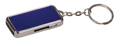 """8MEM008 - 3/4"""" x 1 1/2"""" x 1/4"""" 8GB Metal USB Flash Drive with Keychain"""