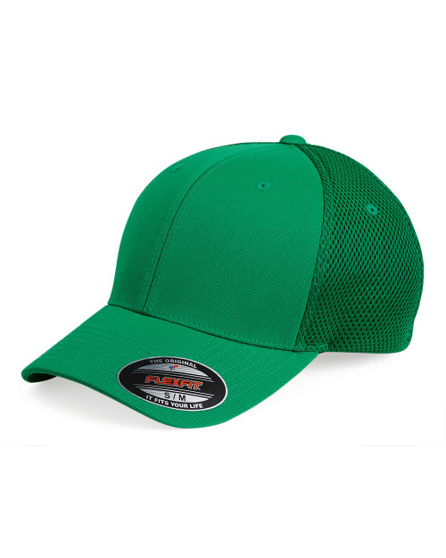 Ultrafiber Cap with Air Mesh Sides by Flexfit in Green