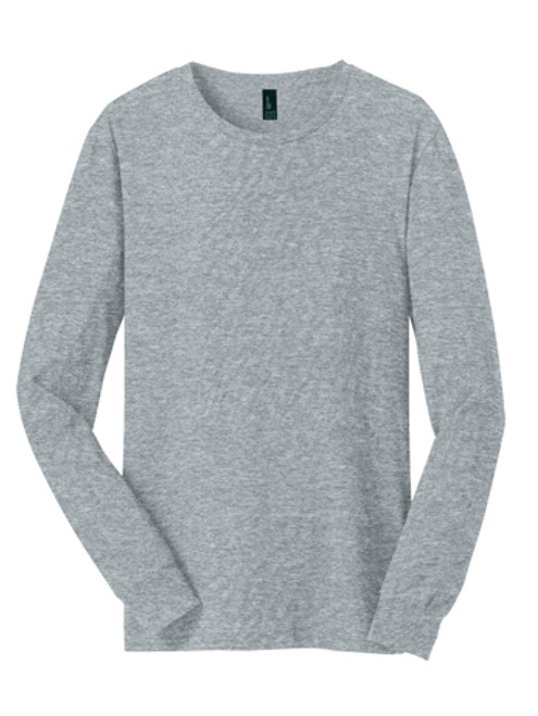 DT5200: Young Mens The Concert Tee® Long Sleeve by District®  in Heather Grey