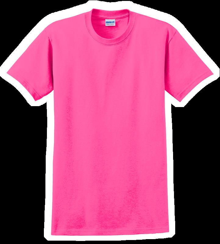G2000B Safety Pink Youth T-Shirt Short Sleeve by Gildan