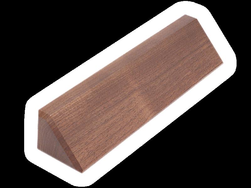 """DS10: 10.5"""" Walnut Desk Wedge"""