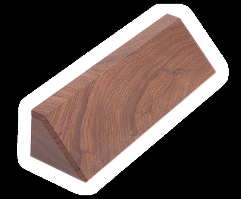 """DS8: 8.5"""" Walnut Desk Wedge"""