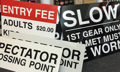 Corflute Temporary Signage