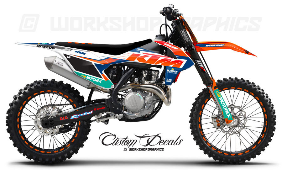 Ktm White Chrome Graphics