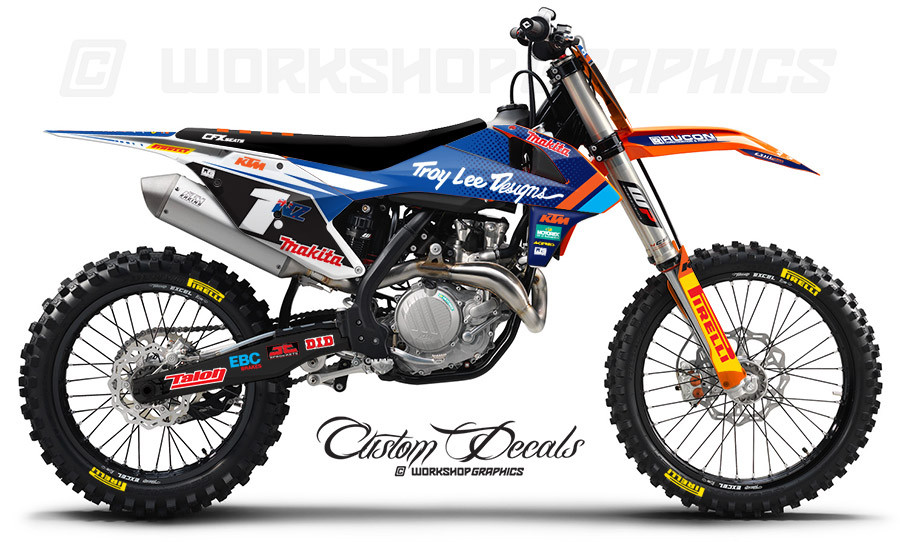 Ktm custom graphics kits race numbers