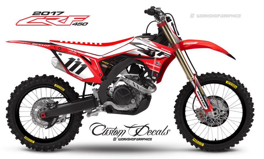 2017 CRF450R Graphics Kit