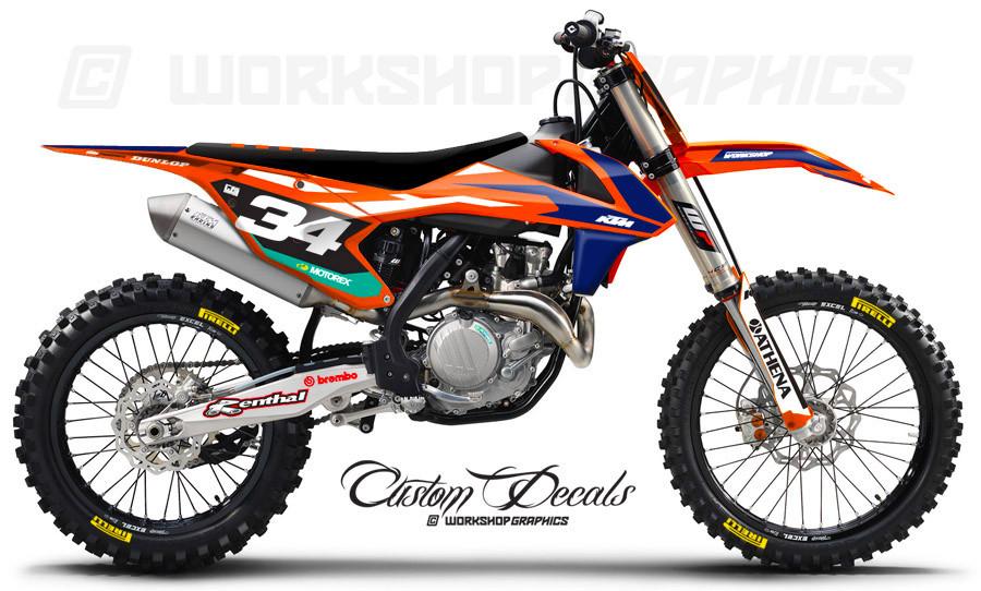 KTM 125 450 Licensed MX Graphics