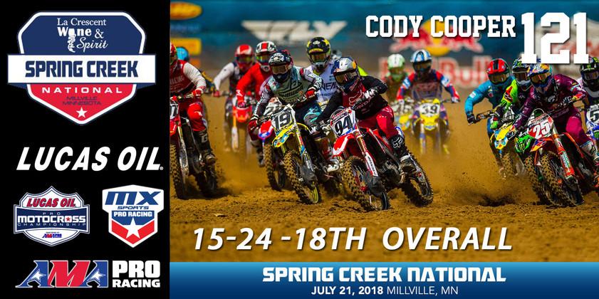 Cody's weekly wind down - Round 8 - Spring Creek