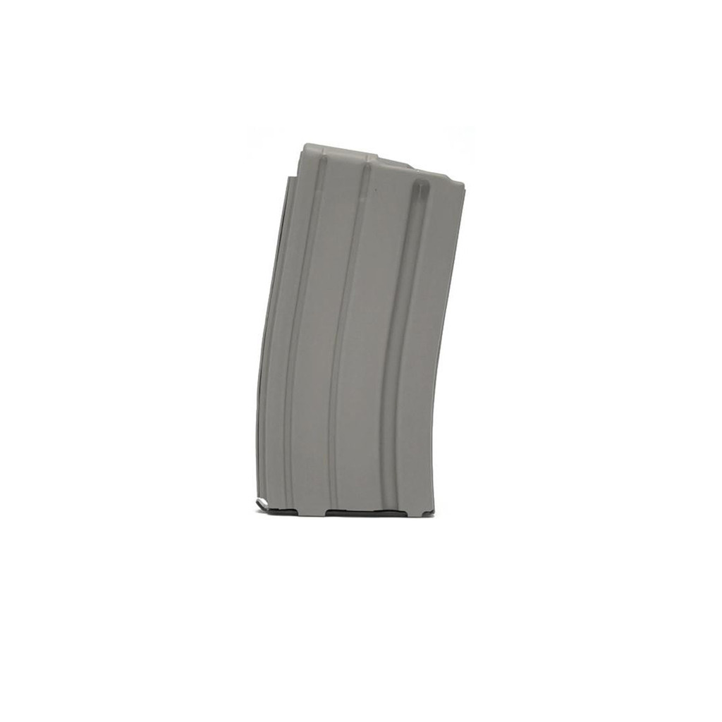 AR15 Stainless Steel Magazine with Gray Teflon Finish, 20 Round