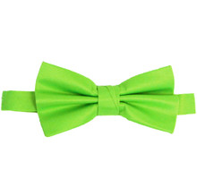 Lime Luxury Matte Satin Bow Tie with Adjustable Clasp