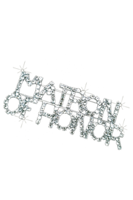 Rhinestone Matron of Honor Brooch Pin