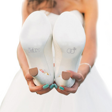 Mrs. Shoe Stickers for Bridal Shoes with Clear Double Rings