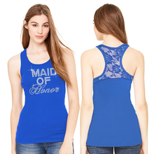 Big Bling Lace Racerback Tank Top for the Bridal Party
