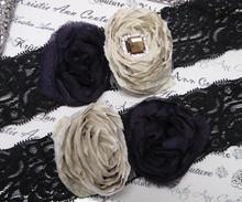 Black, Purple and Tan Bridal Garter Set