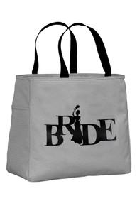 Chrome Tote Bag with Black Print