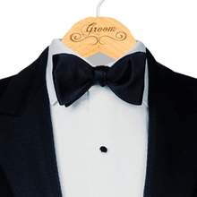 Groom Hanger Engraved with Scroll Design