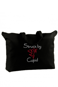 Crystal Struck by Cupid Canvas Tote Bag