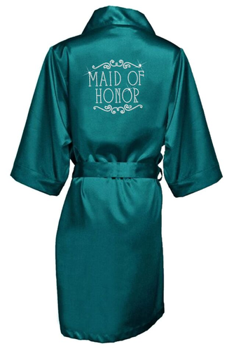 Rhinestone Bridal Party Robes with Beautiful Regal Frame