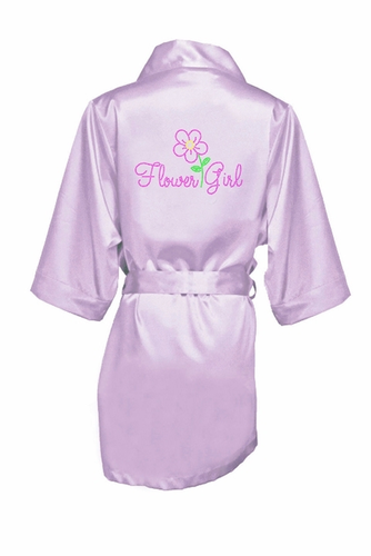 Pretty Posie Rhinestone Flower Girl Satin Robe