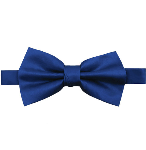 Royal Blue Luxury Matte Satin Bow Tie with Adjustable Clasp