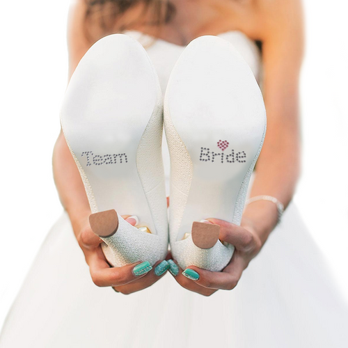 Team Bride Shoe Stickers - Great for the Wedding Party!