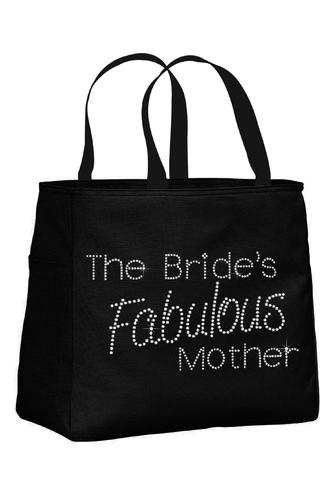 The Bride's Fabulous Mother Rhinestone Tote Bag