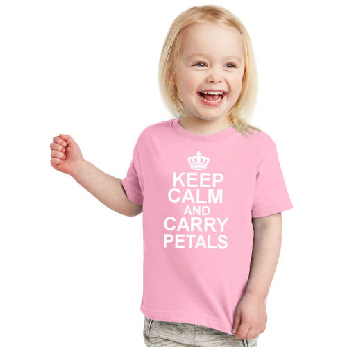 Keep Calm and Carry Petals Flower Girl T-Shirt