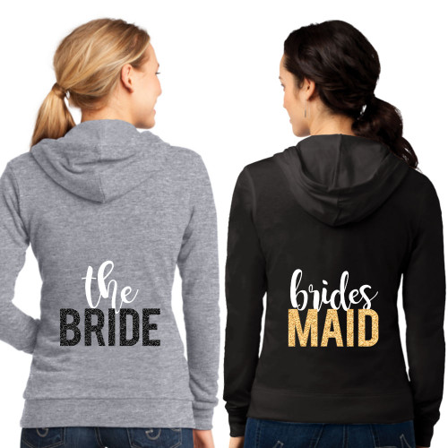 Bridal Party Zip-Up Hoodie