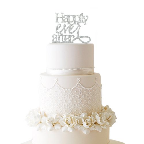 Happily Ever After Rhinestone Cake Topper
