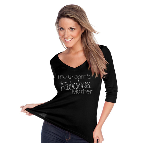 The Groom's Fabulous Mother V-Neck 3/4 Sleeve Top