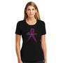 "Pink Ribbon ""Survivor"" Breast Cancer Shirt - Misses Crew Neck Tee"