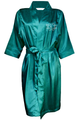 Rhinestone Monogram Satin Robe
