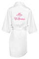 Personalized Mrs. Robe with Metallic Print