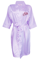 Personalized Embroidered Satin Robe with Overlay Name on Front