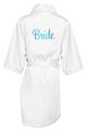 Satin Robes with Bridal Titles in Metallic Vinyl
