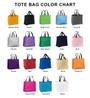 Tote Bag Color Chart