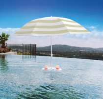 Pool Buoy Plus Floating Umbrella - Coconut Cream