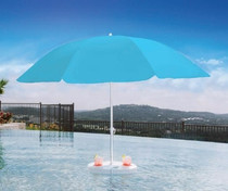 Pool Buoy Plus Floating Umbrella - Harbor Blue
