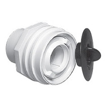 "Waterway Flush Mount Return Fitting with Plaster Plug 1"" Socket - Dark Gray # 400-9199P-DK"
