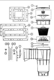 Pentair Skimmer Lid/collar set - Black # 516328