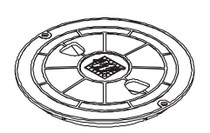 Waterway Lid Assembly - White # 540-6460WW